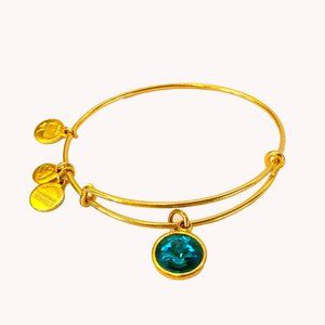 ALEX and ANI Blue Birthstone December Bracelet
